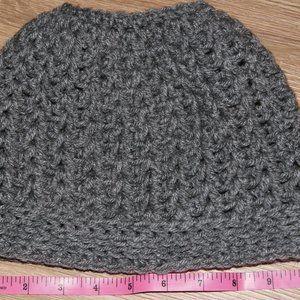 4/$20**Crochet messy bun/ ponytail hat